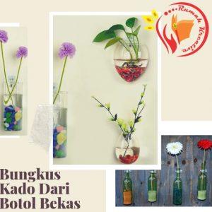 kerajinan dari botol plastik Vas Bunga Air Gantung