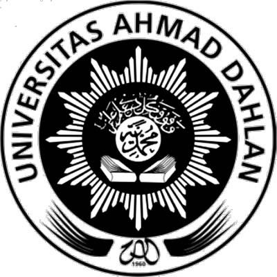 Logo UAD (Universitas Ahmad Dahlan) hitam putih