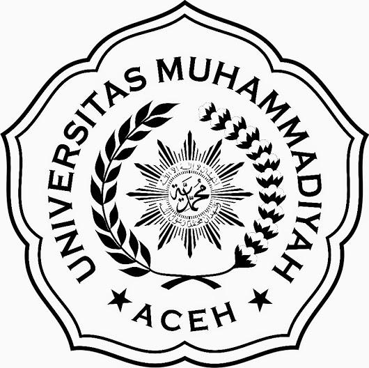 Logo UNMUHA (Universitas Muhammadiyah Aceh) Hitam Putih