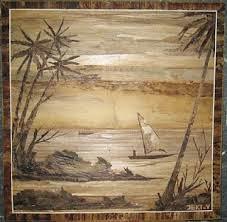 Lukisan dari pelepah pisang