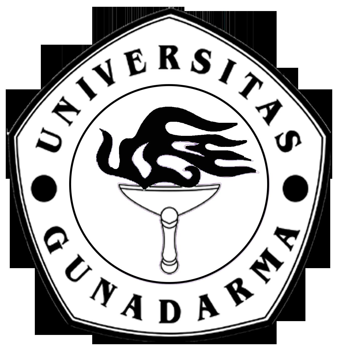 Logo Gunadarma (Universitas Gunadarma) Original Hitam Putih PNG