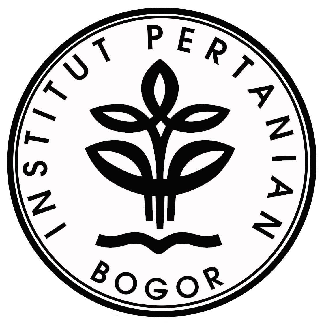 Logo IPB (Institut Pertanian Bogor) Hitam Putih