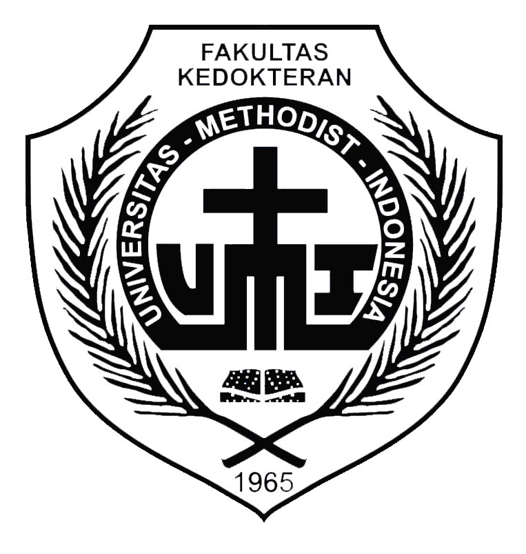 Logo Methodist (Universitas Methodist Indonesia) Hitam Putih PNG