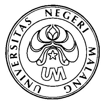 Logo UM (Universitas Negeri Malang) Hitam Putih