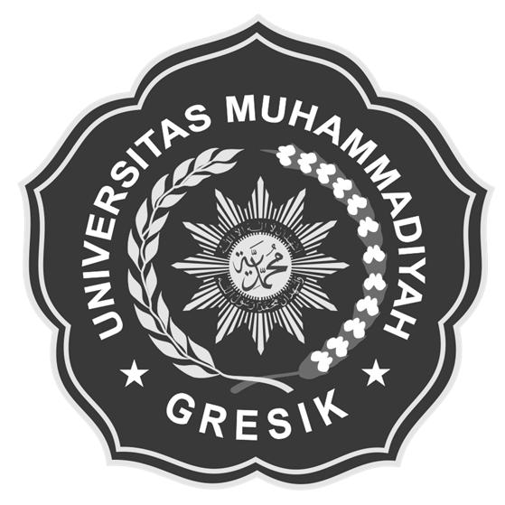 Logo UMG (Universitas Muhammadiyah Gresik) Hitam Putih 1