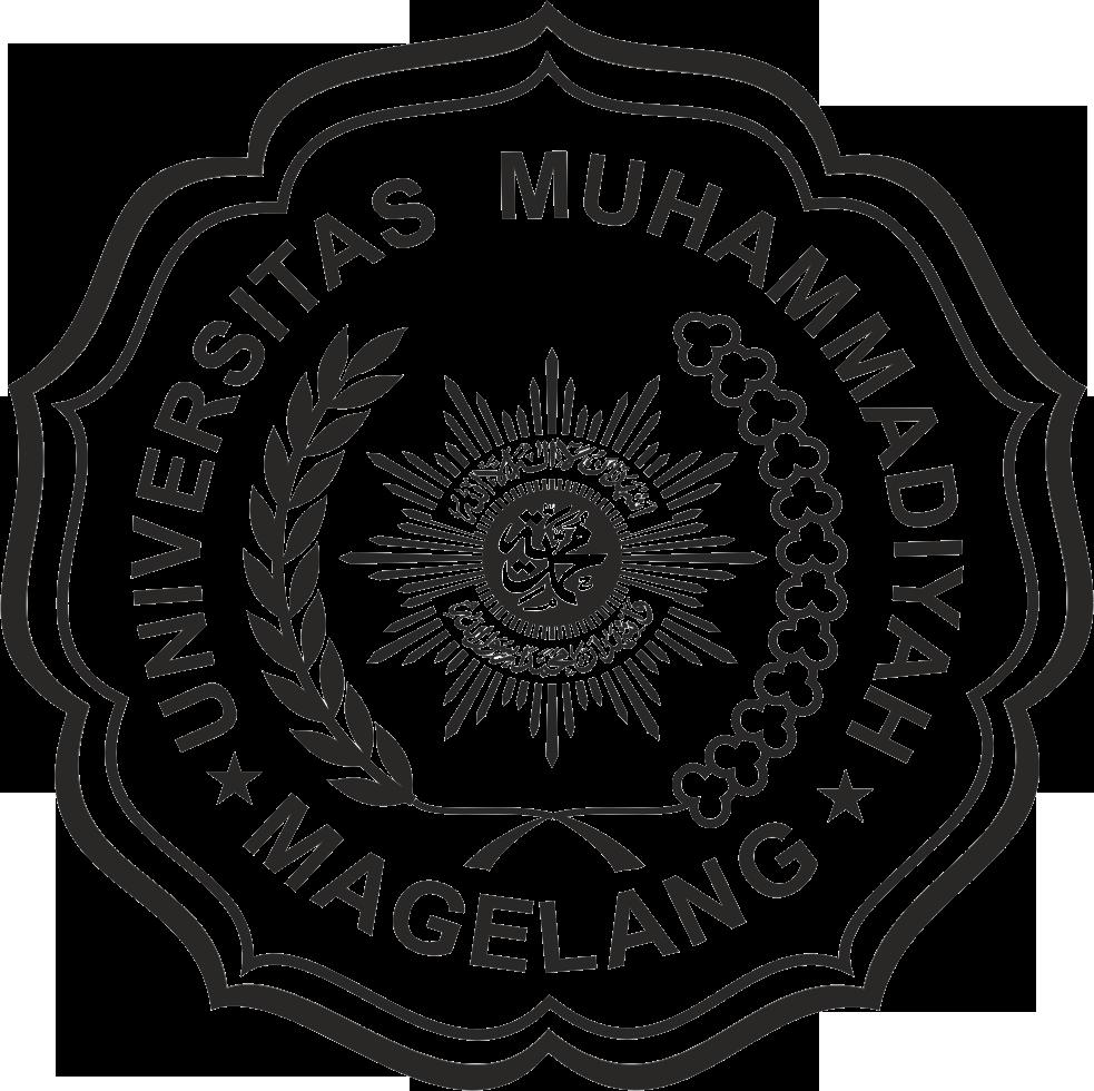 Logo UMMGL (Universitas Muhammadiyah Magelang) Hitam Putih