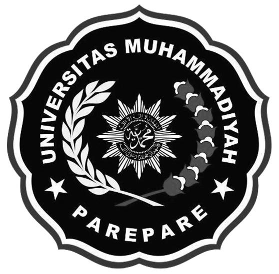 Logo UMPAR (Universitas Muhammadiyah Parepare) Hitam Putih 2