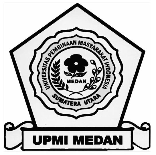 Logo UPMI (Universitas Pembinaan Masyarakat Indonesia) Hitam Putih