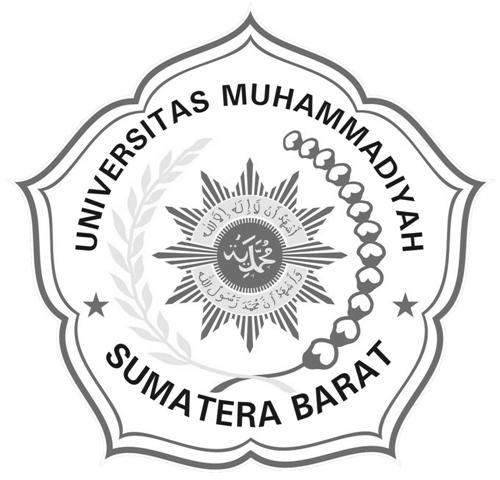 Logo UMSB (Universitas Muhammadiyah Sumatera Barat) Hitam Putih