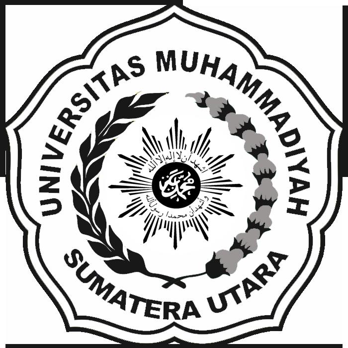 Logo UMSU (Universitas Muhammadiyah Sumatera Utara) Hitam Putih