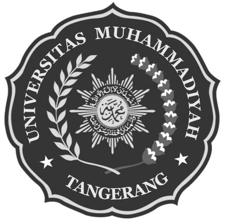 Logo UMT (Universitas Muhammadiyah Tangerang) Hitam Putih