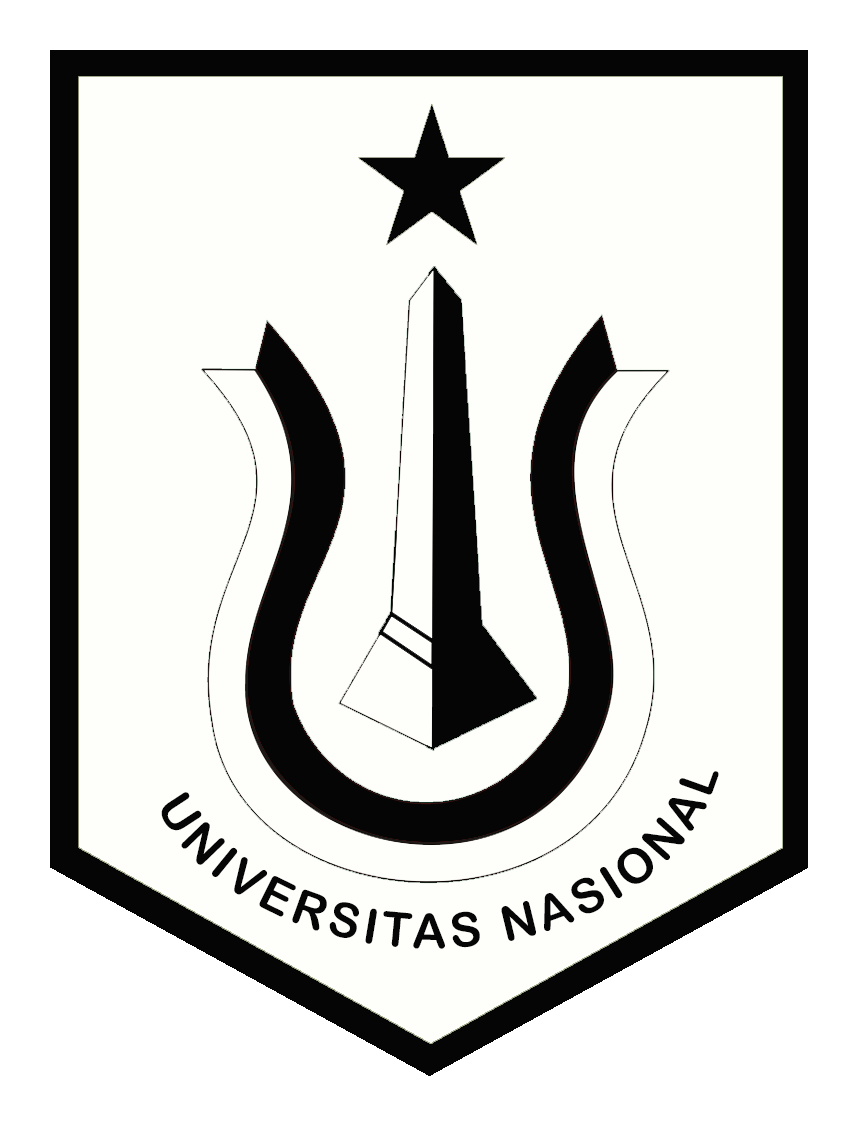 Logo UNAS (Universitas Nasional) Original Hitam Putih PNG