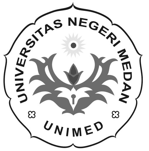 Logo UNIMED (Universitas Negeri Medan) Hitam Putih