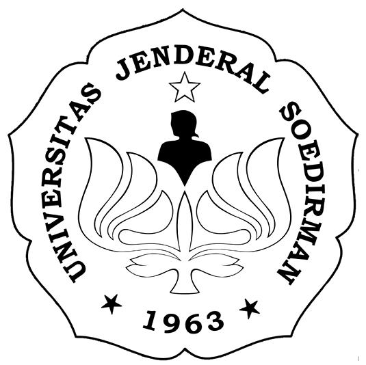 Logo UNSOED (Universitas Jenderal Soedirman) Hitam Putih PNG