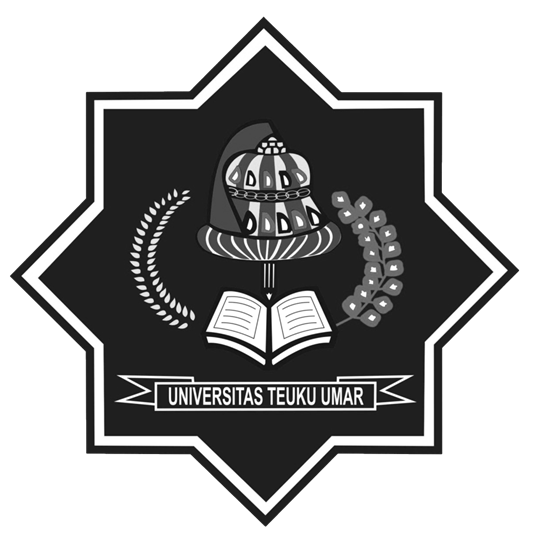 Logo UTU (Universitas Teuku Umar) Hitam Putih