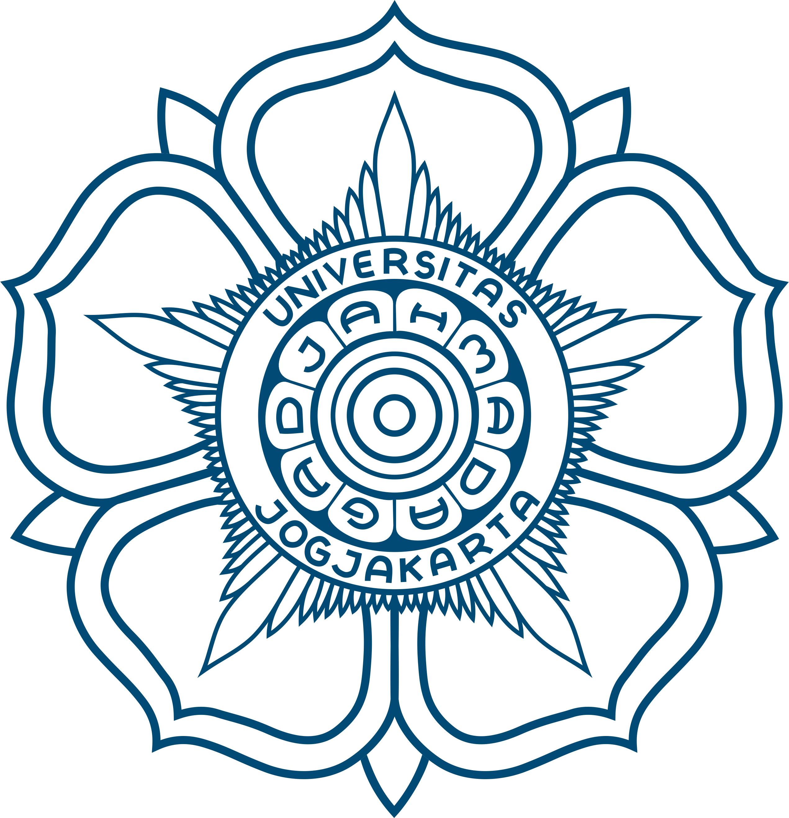 Logo UGM (Universitas Gadjah Mada) Warna Biru