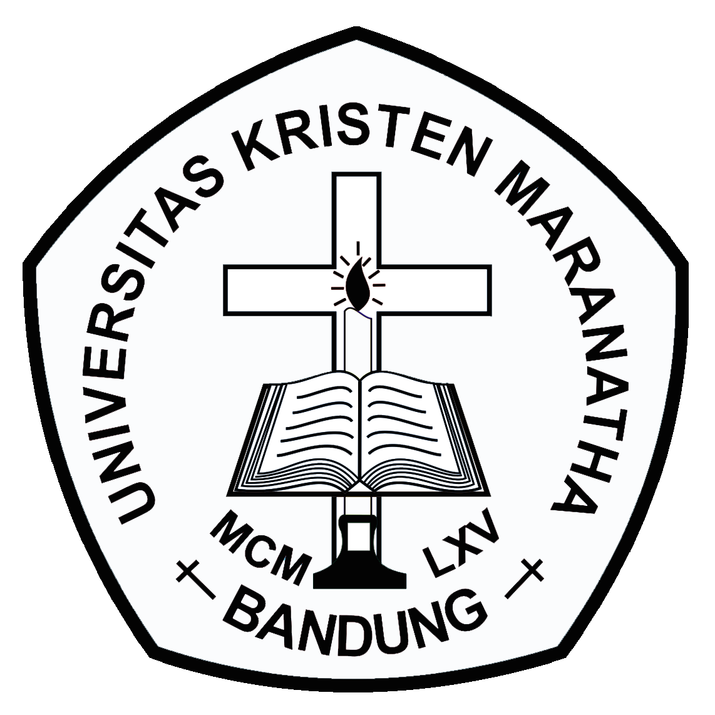 Logo Maranatha (Universitas Kristen Maranatha) Original Hitam Putih PNG