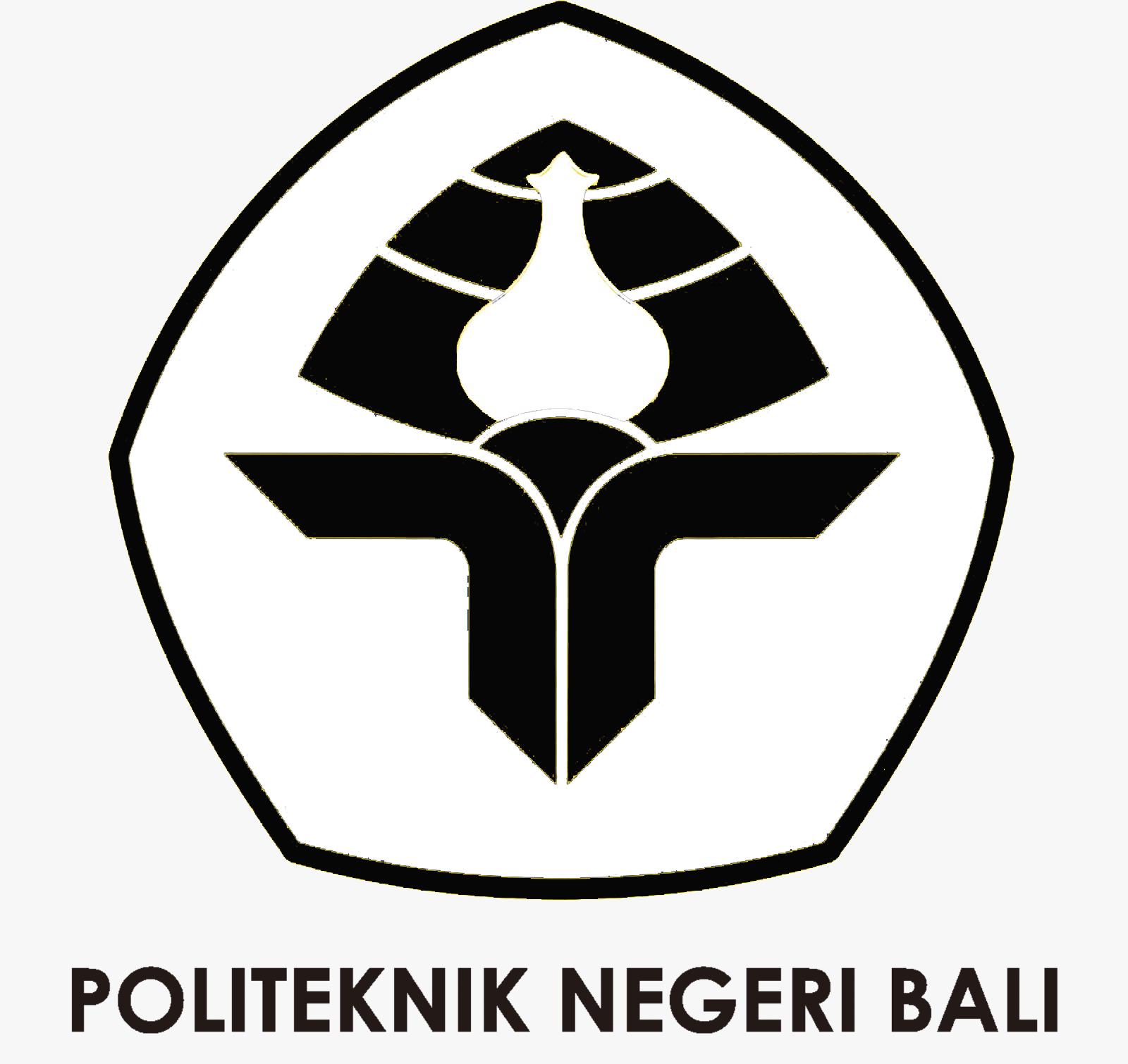 Logo PNB (Politeknik Negeri Bali) Original Lengkap Hitam Putih PNG