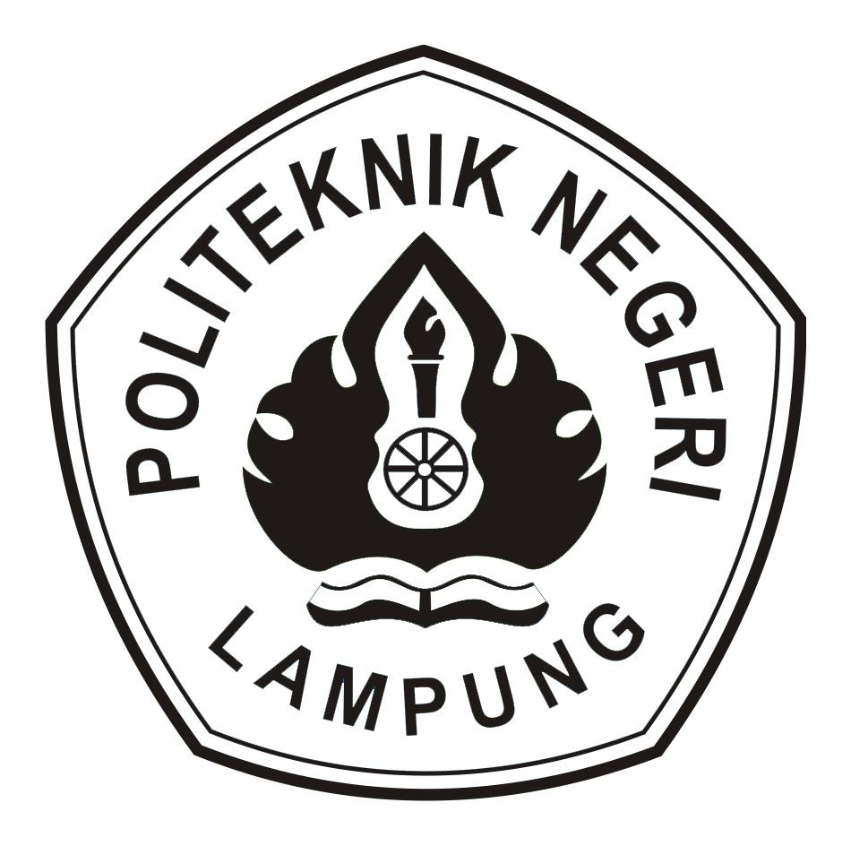 Logo Polinela (Politeknik Negeri Lampung) Hitam Putih Original