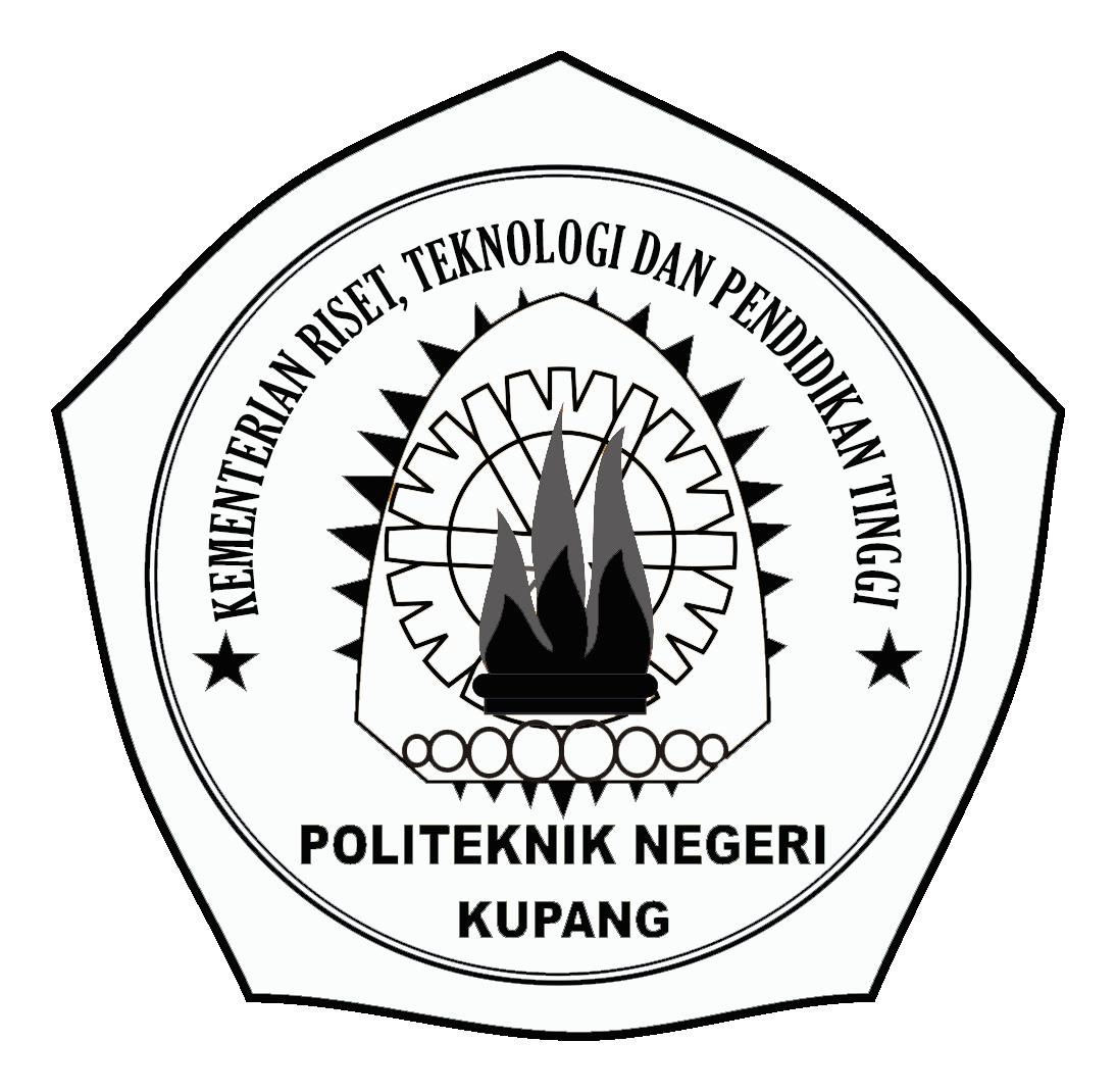 Logo Politeknik Negeri Kupang Original Hitam Putih PNG