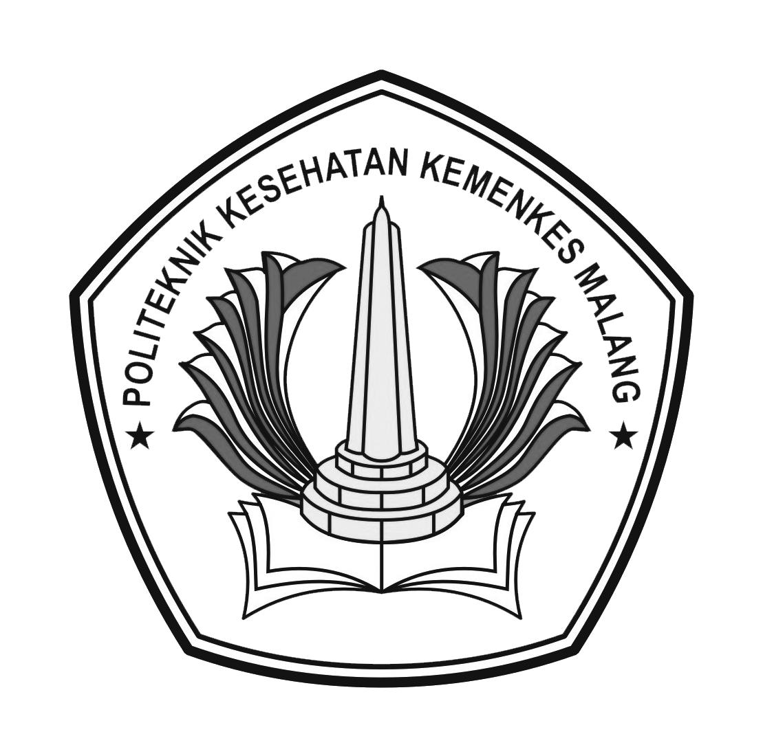 Logo Poltekkes Malang (Politeknik Kesehatan Malang) Hitam Putih