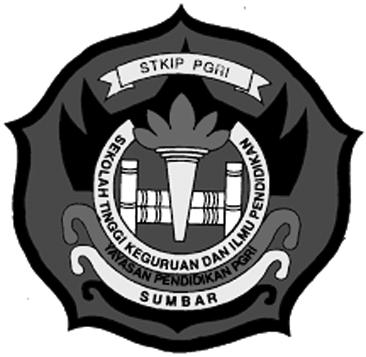 Logo STKIP PGRI Sumbar Original PNG Terbaru Hitam Putih