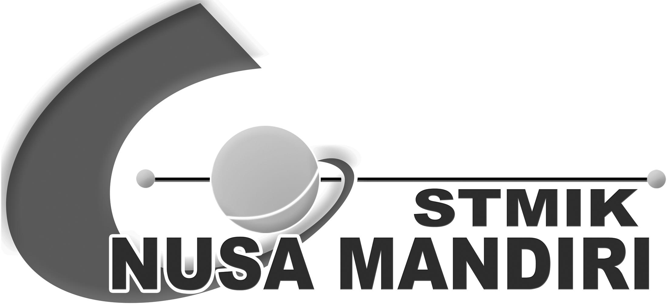Logo STMIK Nusa Mandiri Original PNG Terbaru Hitam Putih