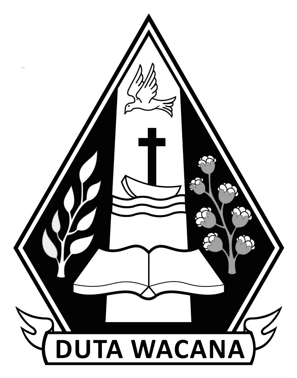 Logo UKDW (Universitas Kristen Duta Wacana) Original Hitam Putih