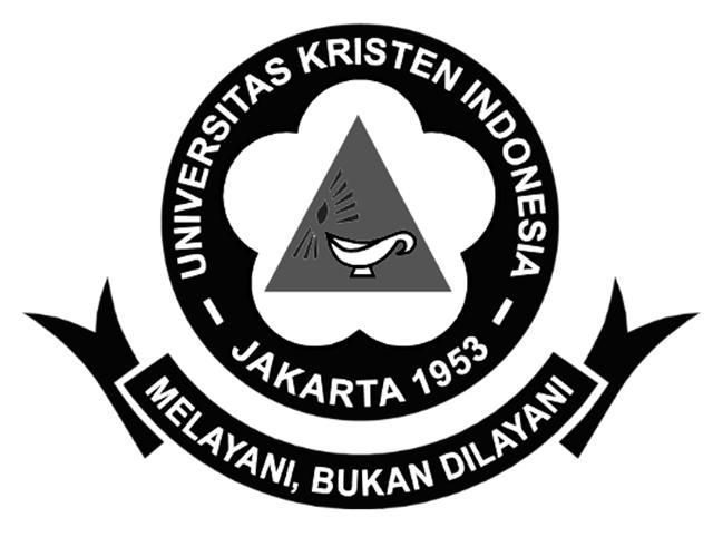 Logo UKI (Universitas Kristen Indonesia) Hitam Putih PNG