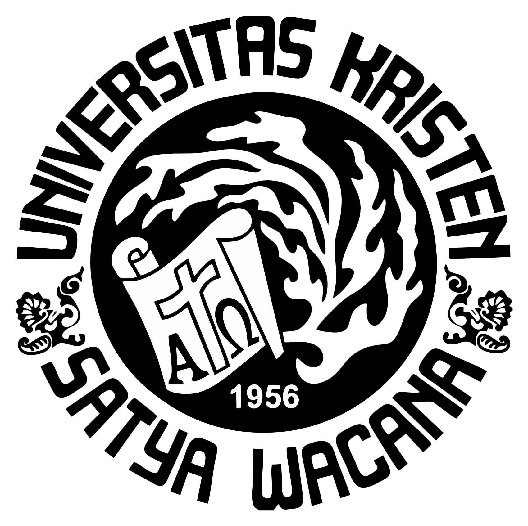 Logo UKSW (Universitas Kristen Satya Wacana) Hitam Putih