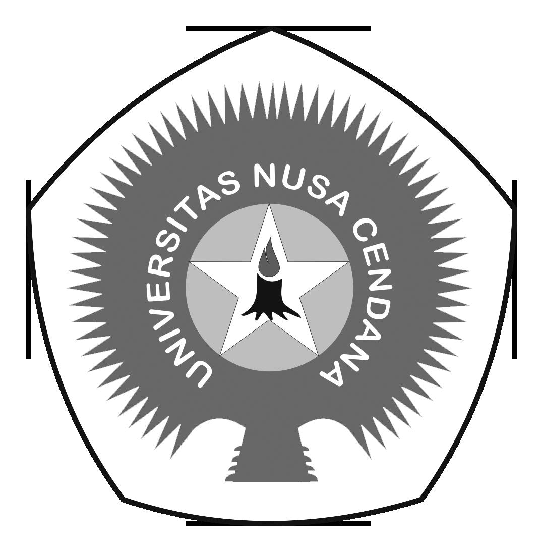 Logo UNDANA (Universitas Nusa Cendana) PNG Hitam Putih