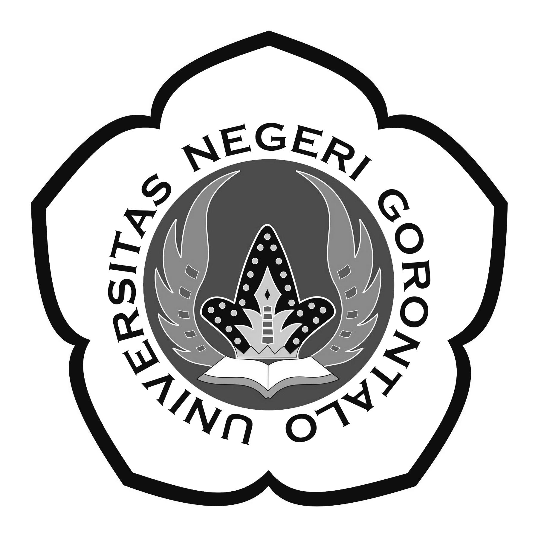 Logo UNG (Universitas Negeri Gorontalo) Grayscale PNG