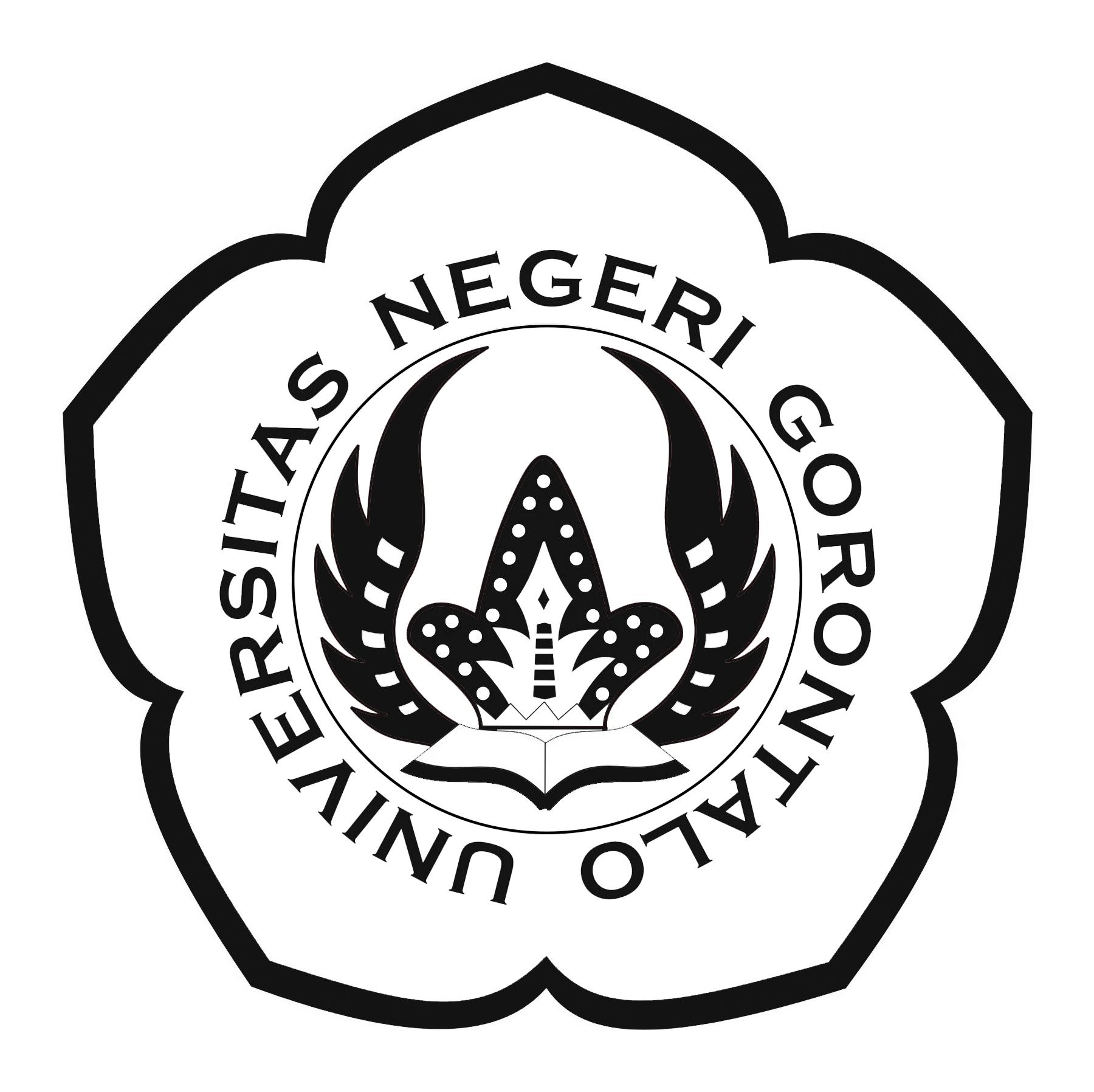 Logo UNG (Universitas Negeri Gorontalo) Hitam Putih PNG