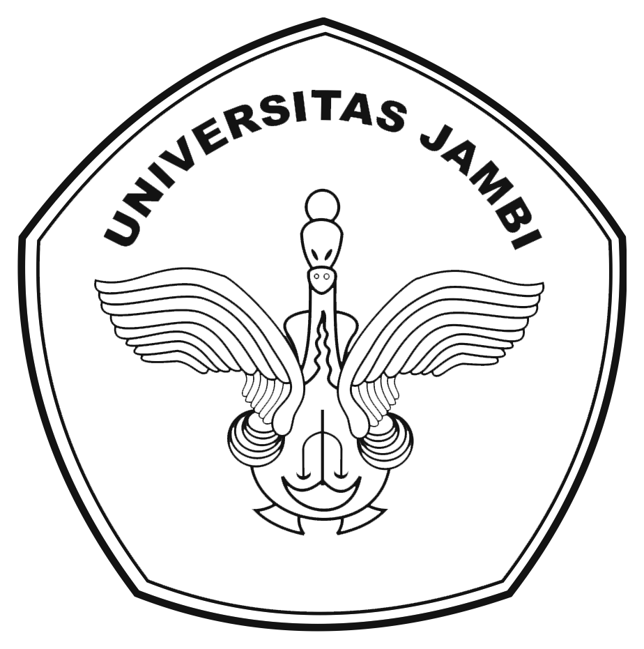 Logo UNJA (Universitas Negeri Jambi) Original Hitam Putih