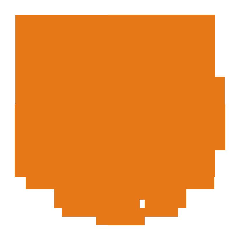 Logo UNM (Universitas Negeri Makassar) Jingga PNG