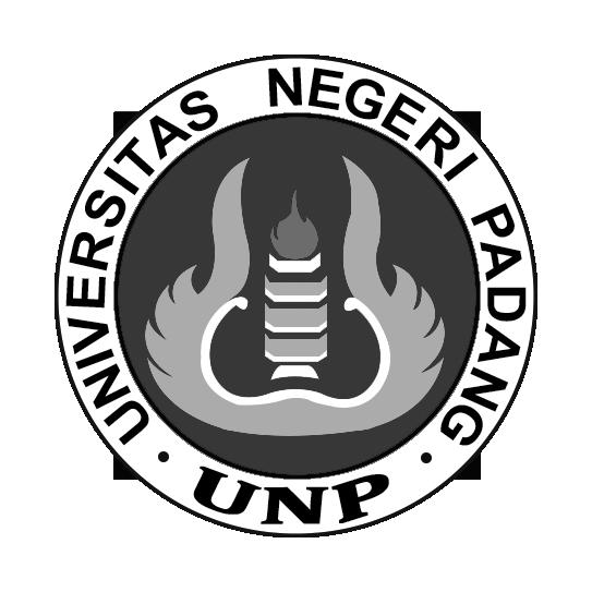 Logo UNP (Universitas Negeri Padang) Grayscale PNG