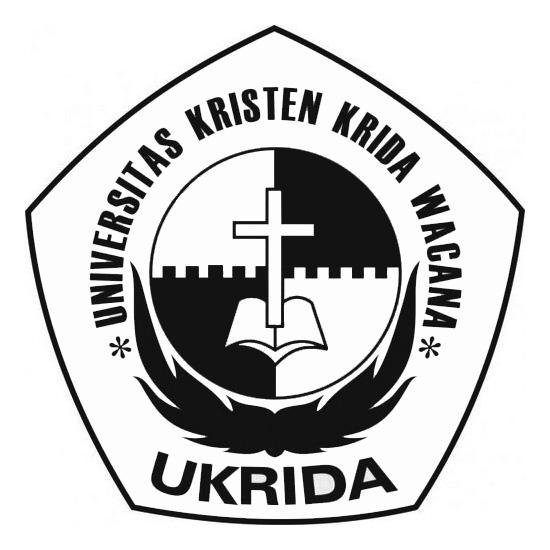 Logo Ukrida (Universitas Kristen Krida Wacana) Hitam Putih