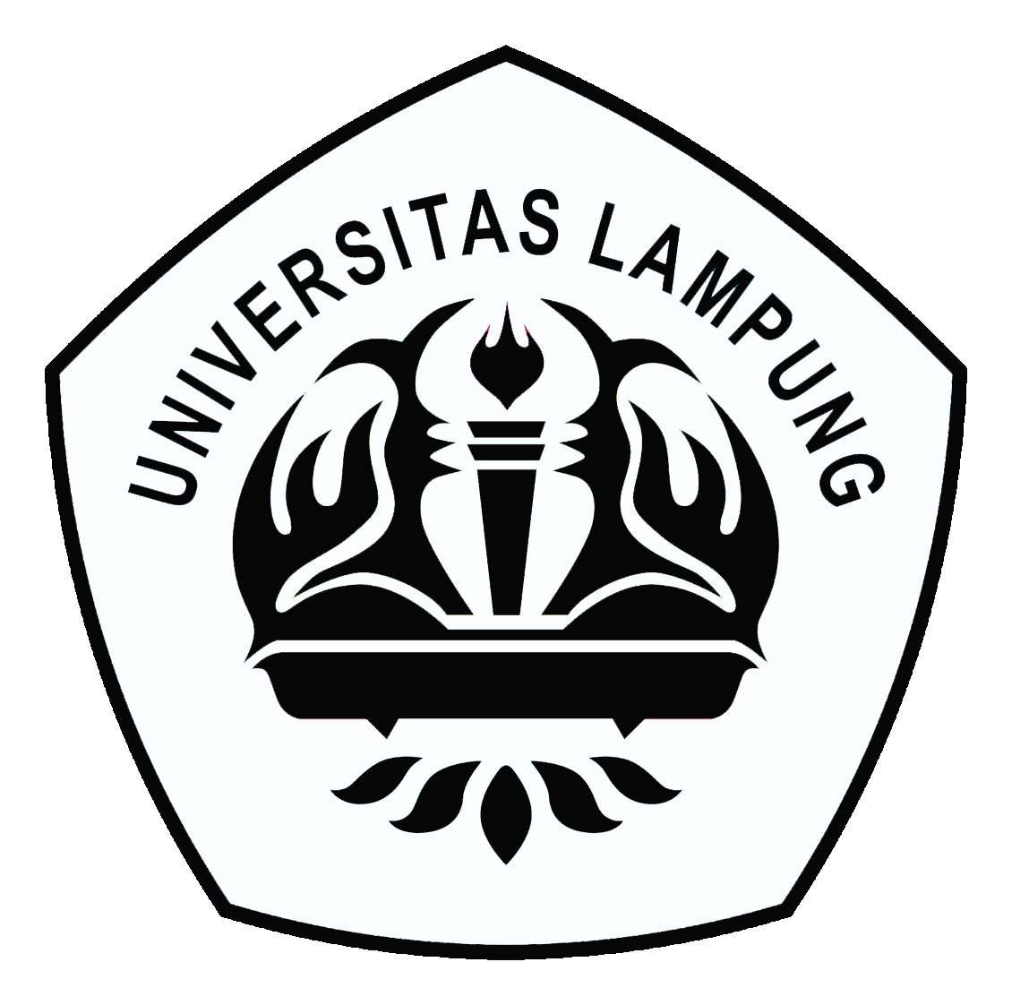 Logo Universitas Lampung Original Hitam Putih PNG