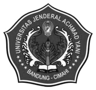 Logo Unjani (Universitas Jenderal Achmad Yani) Hitam Putih