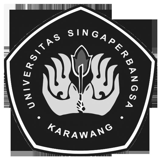 Logo Unsika (Universitas Singaperbangsa Karawang) Grayscale PNG