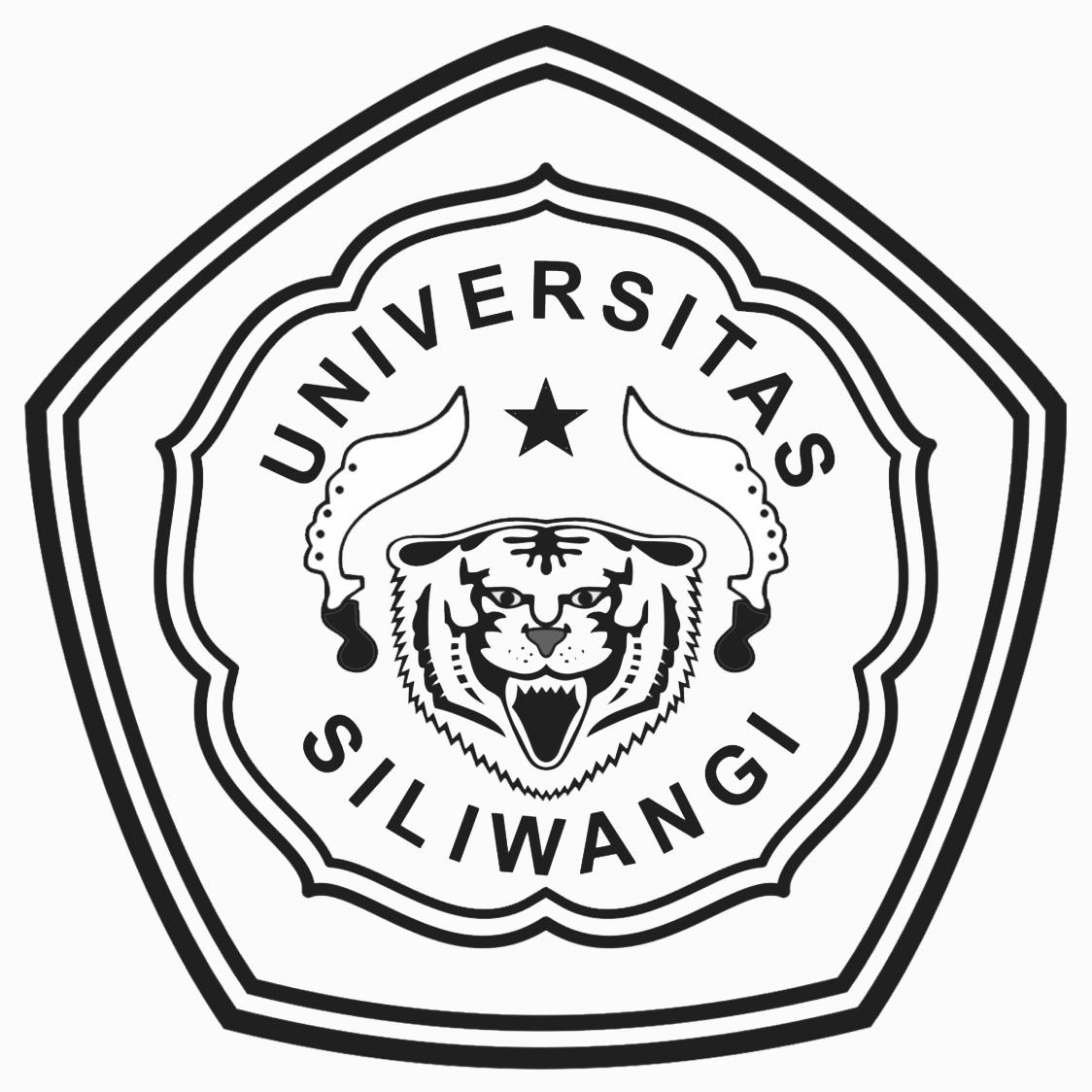 Logo Unsil (Universitas Siliwangi) Hitam Putih Original