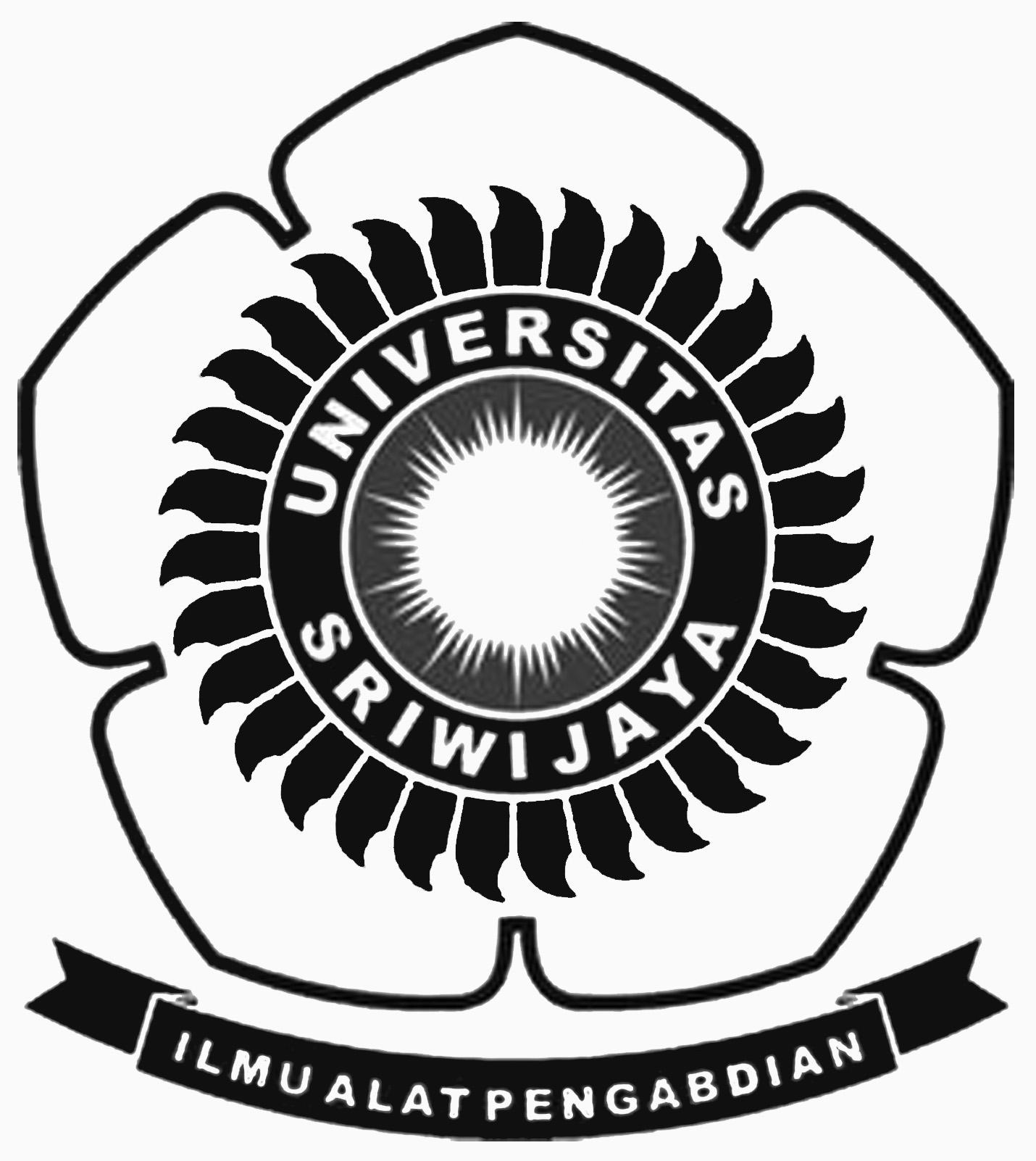 Logo Unsri (Universitas Sriwijaya) Original Hitam Putih