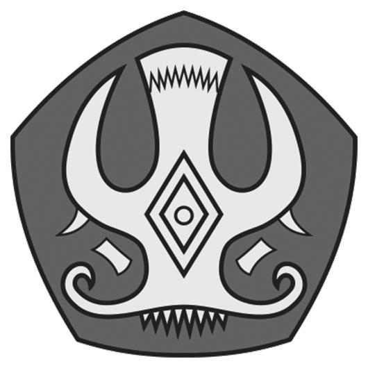 Logo Untad (Universitas Tadulako) Grayscale PNG