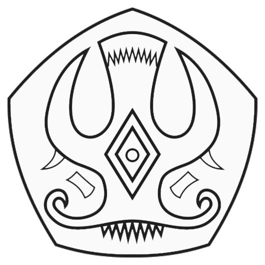 Logo Untad (Universitas Tadulako) Hitam Putih PNG