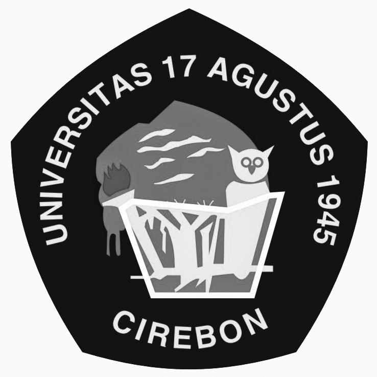 Logo Untag Cirebon (Universitas 17 Agustus 1945) Grayscale