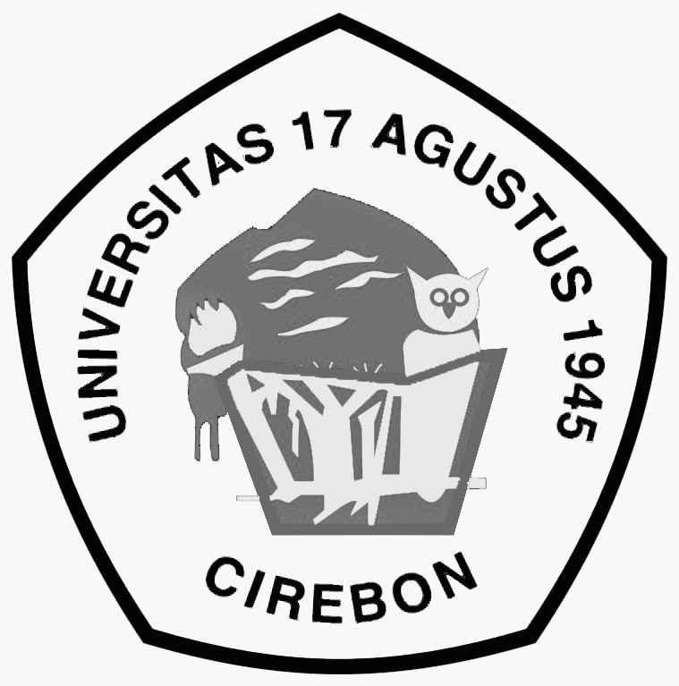 Logo Untag Cirebon (Universitas 17 Agustus 1945) Hitam Putih