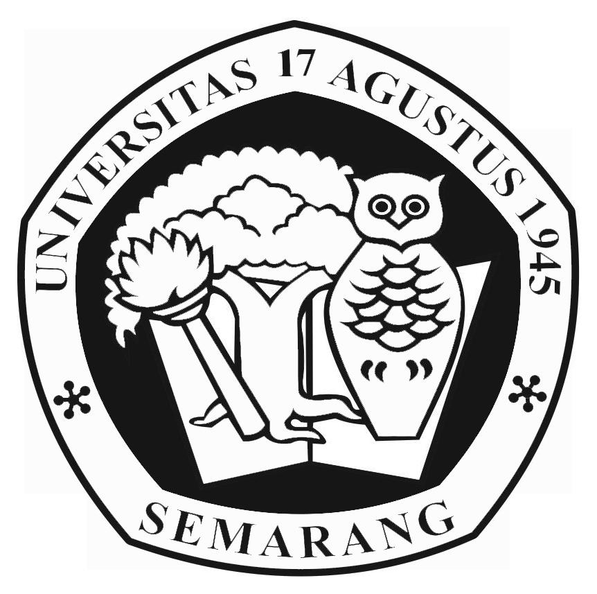 Logo Untag Semarang (Universitas 17 Agustus 1945) Hitam Putih PNG
