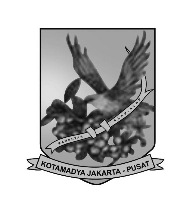 Logo Jakarta Pusat (Kota Administrasi Jakarta Pusat) Grayscale