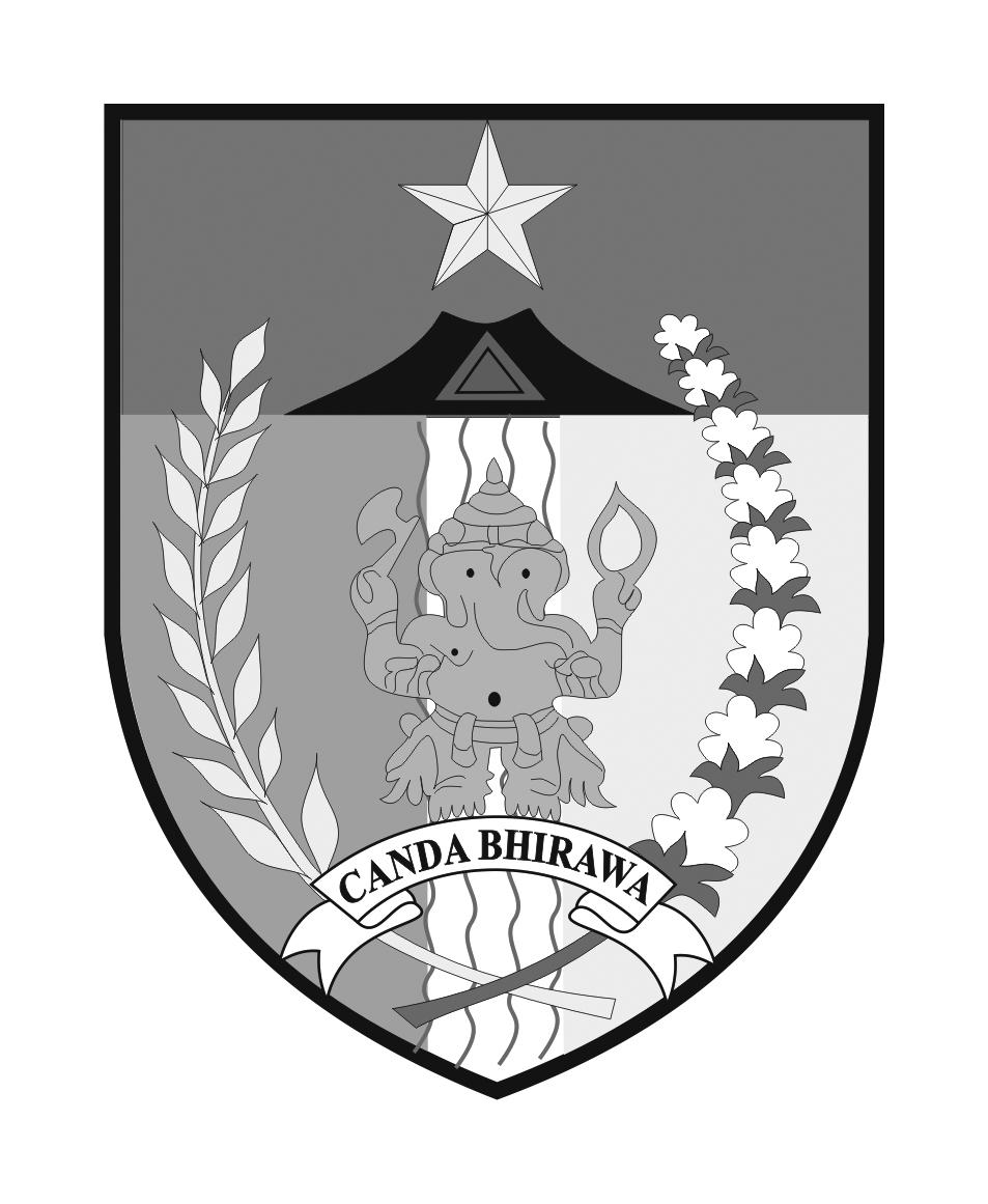 Logo Kabupaten Kediri Grayscale