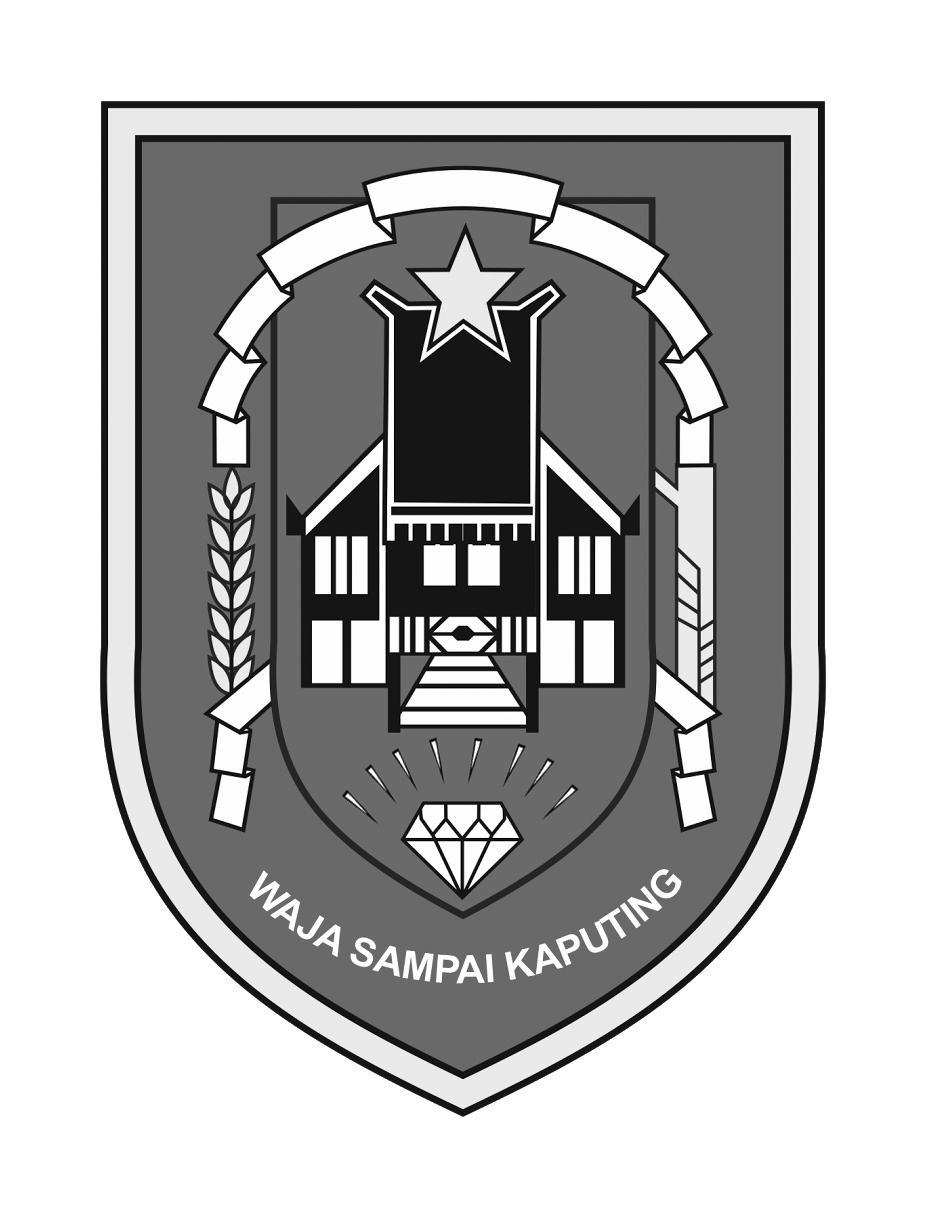 Logo-Kalimantan Selatan Provinsi Kalimantan Selatan Grayscale